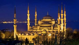 the blue moskque in Istanbul