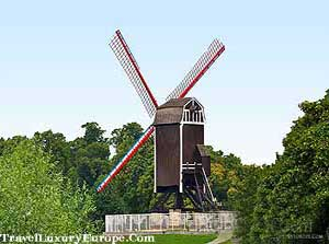 ST janshuis větrný mlýn v Bruggách