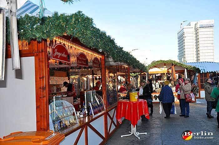 Christmas Market At Alexanderplatz In Berlin