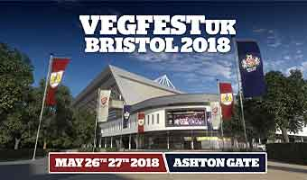 Vegfest Bristol at its new venue Ashton Gate Stadium, 26 – 27 May 2018