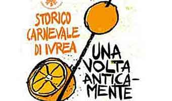 Ivrea Historic Carnival och Battle of the Orange, 20 - 26 Februari 2020