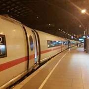 vlak do Hamburku