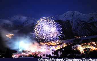 Pyrotechnisches Kunstfestival Courchevel