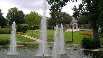 cognac city in france - cognac public garden