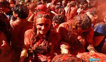 La Tomatina Buñol, Spanien. Onsdag 28 August 2019