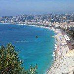 Die schöne Stadt Nizza an der französischen Riviera