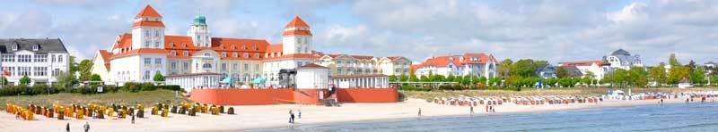 Pláž a lázeňské hotely Rugen