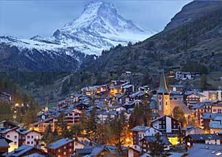 Zermatt i Schweiz, hem för Matter
