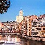 Schöne Girona in Spanien