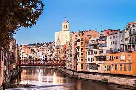 Vackra Girona i Spanien