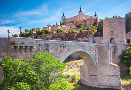 The Medieval town Toledo in Spain