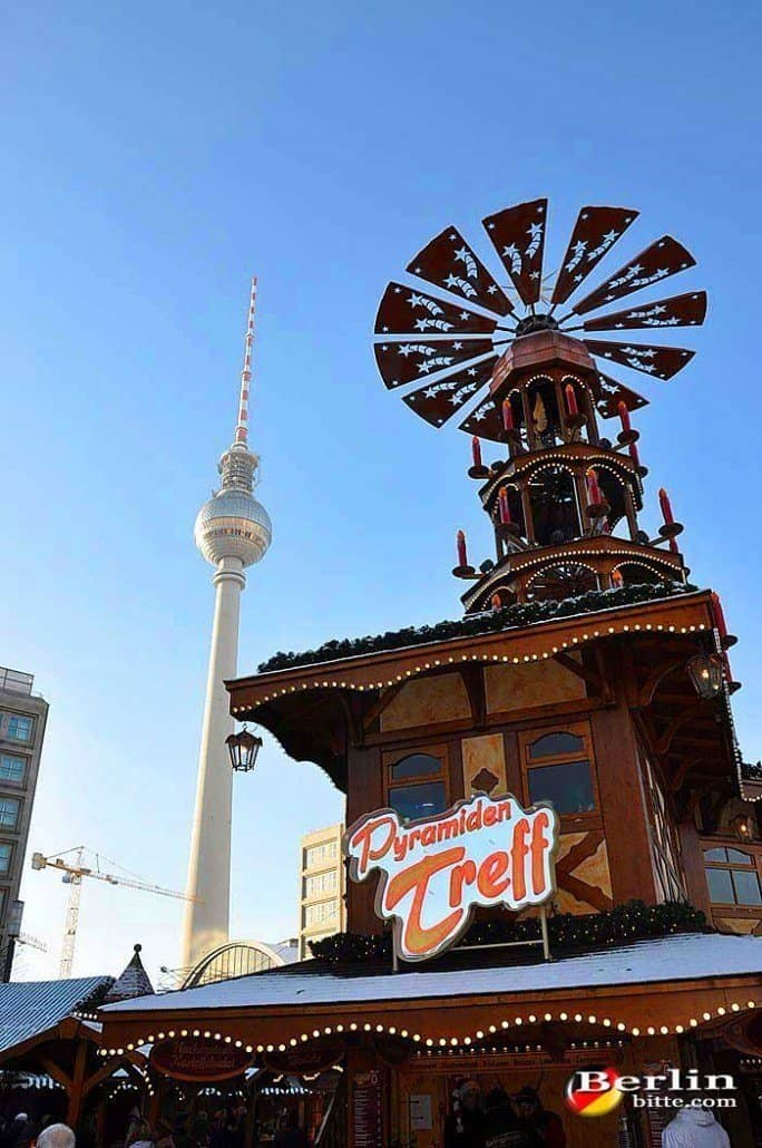 Christmas Market At Alexanderplatz In Berlin