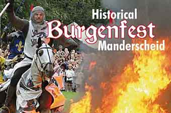 Historische Burgenfest in Manderscheid, Deutschland 29 - 30 August 2020