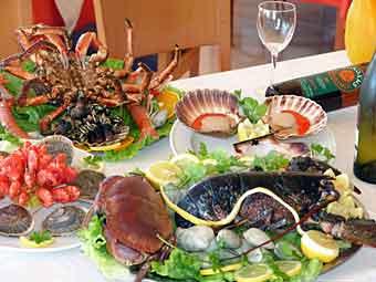 Fiesta del Marisco - mereneläviä festivaali espanja