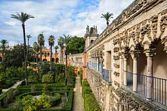 alcazar i Sevilla, Spanien